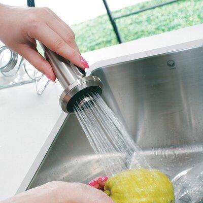 Vigo One Handle Single Hole Kitchen Faucet with Soap Dispenser