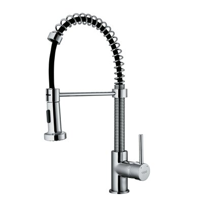 1 Handle Single Hole Pull Out Spiral Kitchen Sink Faucet Product Photo