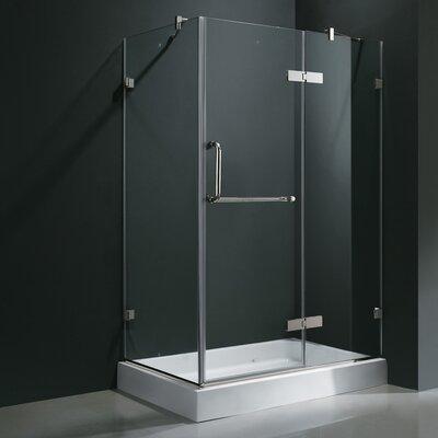 "32"" W x 32"" D x 73.38"" H Pivot Door Frameless Shower Enclosure Product Photo"