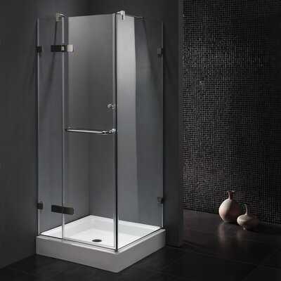 "32"" W x 32"" D x 73.38"" H Pivot Door Frameless Shower Enclosure Product Photo"