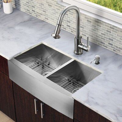 astracast kitchen sink vigo all in one 33 quot x 22 25 quot farmhouse bowl kitchen 1375