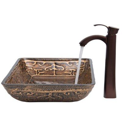 Golden Greek Glass Vessel Sink with Otis Faucet by Vigo