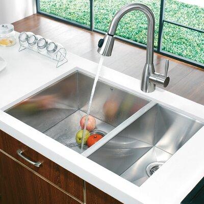 """29"""" x 20"""" Double Bowl Zero Radius Undermount Kitchen Sink Product Photo"""