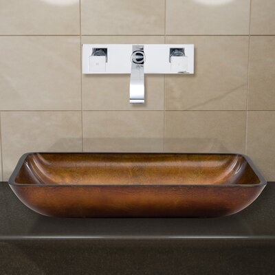 Glass Vessel Sink with Wall Mount Faucet by Vigo