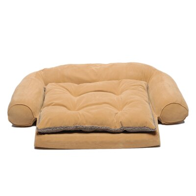 Zoey Tails Ortho Sleeper Comfort Couch® Dog Bed in Caramel