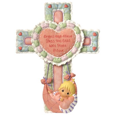 Precious Little Blessings Baby Girl Cross Figurine by Precious Moments