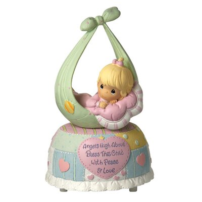 Precious Little Blessings Baby Girl Musical Figurine by Precious Moments