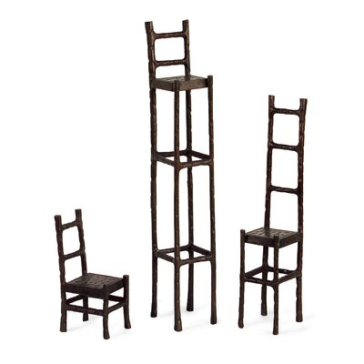 3 Piece Chair Sculptures Set by IMAX