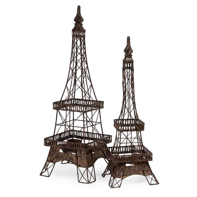 IMAX 2 Piece Eiffel Tower Accent Set