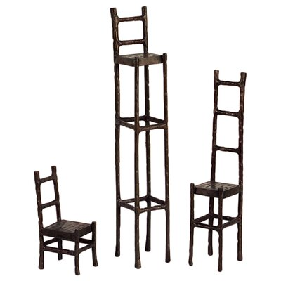 IMAX Three Piece Sculpture Chair Set