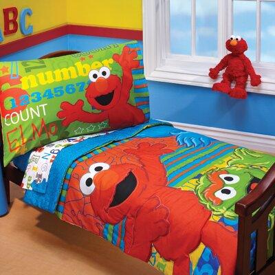 ABC 123 4 Piece Toddler Bedding Set by Sesame Street