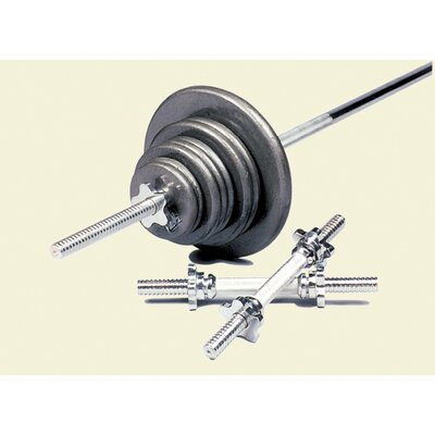 160 lbs Standard threaded weight set in Gray by USA Sports by Troy Barbell