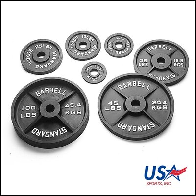 USA Sports by Troy Barbell 10 lbs Olympic Plate in Black