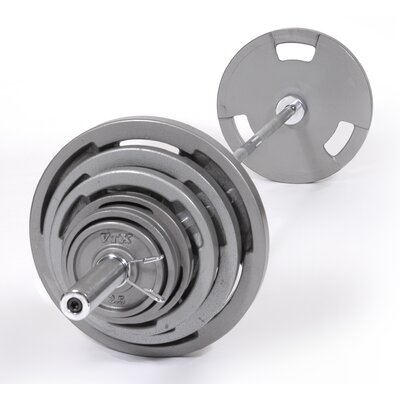 Olympic Grip Plate Weight Set by VTX by Troy Barbell