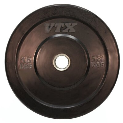VTX 15 lbs Solid Rubber Bumper Plate by VTX by Troy Barbell
