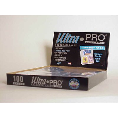 """Ultra Pro 4"""" x 6"""" Card or Photos Display Box (3 Pocket Pages)"""