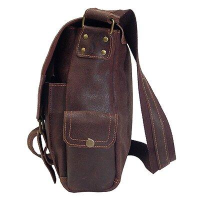 David King Distressed Messenger Bag