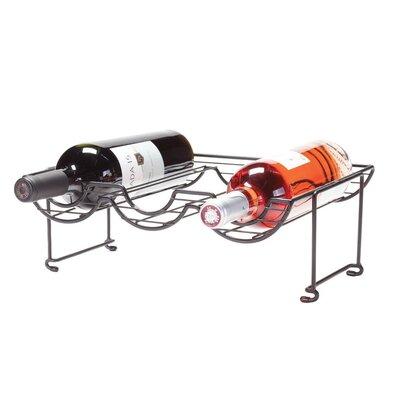 6 Bottle Tabletop Halfpipe Wine Rack by Oenophilia
