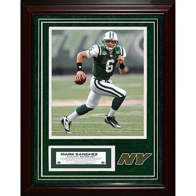 Steiner Sports New York Jets Mark Sanchez Turf Collage Framed Memorabilia