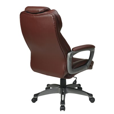 CommClad Eco Leather Executive Chair with Padded Arms
