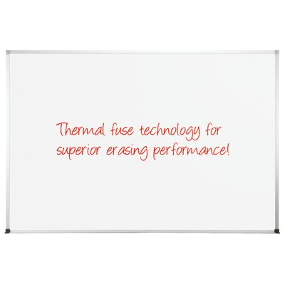 CommClad Thermal-Fused Dot Wall Mounted Grid Whiteboard, 4' x 8'