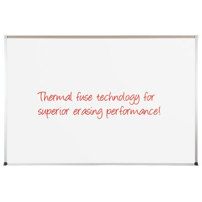 CommClad Thermal-Fused Dot Wall Mounted Grid Whiteboard, 4' x 6'