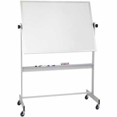 CommClad Thermal-Fused Dot Grid Free-Standing Reversible Whiteboard, 4' x 6'