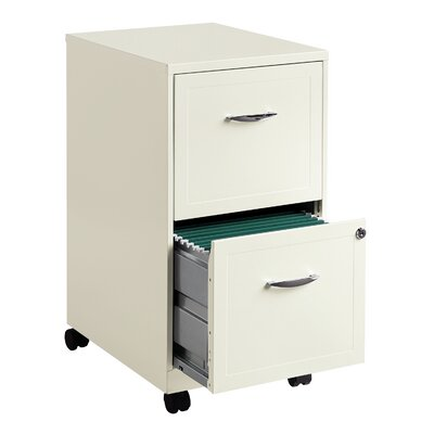 CommClad Steel 2 Drawer Mobile File Cabinet