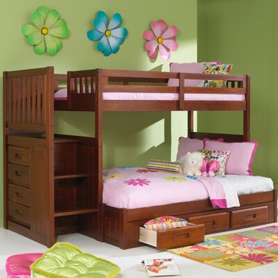 Discovery World Furniture Weston Twin over Full Staircase Bunk Bed Discovery World Furniture