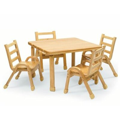 "Angeles NaturalWood 30"" Square Toddler Table and Chair Set"