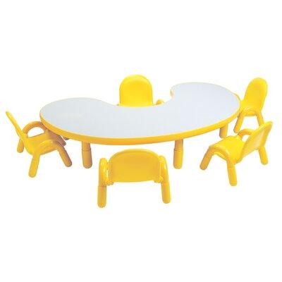 "Angeles Baseline 65"" x 38"" Kidney Classroom Table"