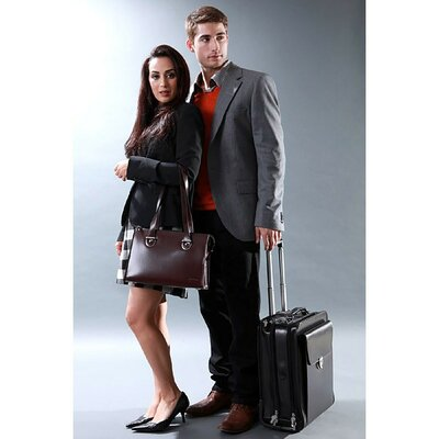 Milano Vertical Leather Laptop Briefcase by Jack Georges