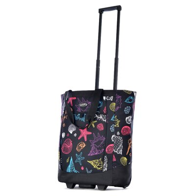 Fashion Seashell Rolling Shopping Tote by Olympia