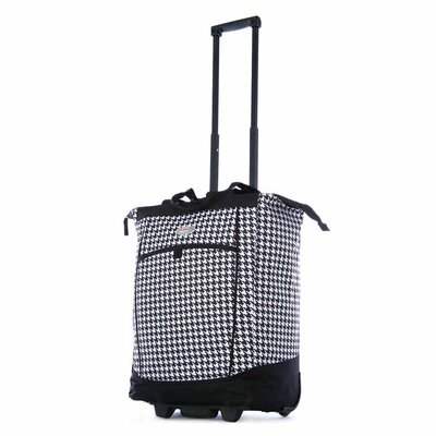 Fashion Houndstooth Rolling Shopping Tote by Olympia