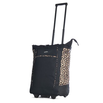 Leopard Rolling Shopping Tote by Olympia