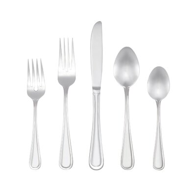 Marina 46 Piece Non-Monogram Flatware Set by RiverRidge Home Products
