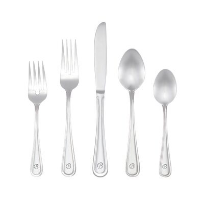 Marina 46 Piece Personalized Flatware Set by RiverRidge Home Products