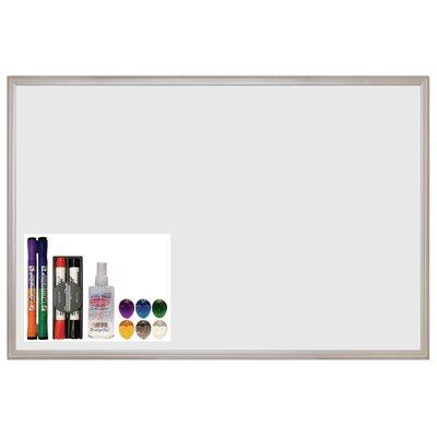 ECR4kids MessageStor Wall Mounted Magnetic Whiteboard, 2' x 3'