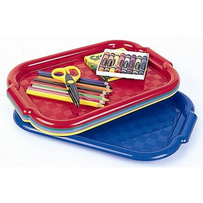 ECR4kids 5 Piece Flat Non-Slip Art Trays in Assorted