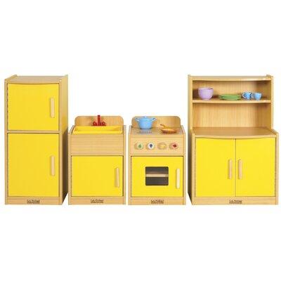 ECR4kids 4 Piece Play Kitchen Set