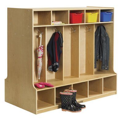 ECR4kids 1 Tier 5-Section Double Sided Coat Locker