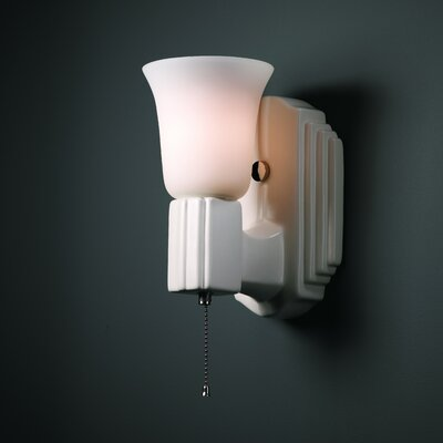 Justice design group american classics deco 1 light wall for American classic lighting