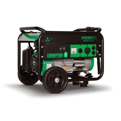 Portable 3,500 Watt Liquid Propane Generator with Recoil Start by Champion Power Equipment