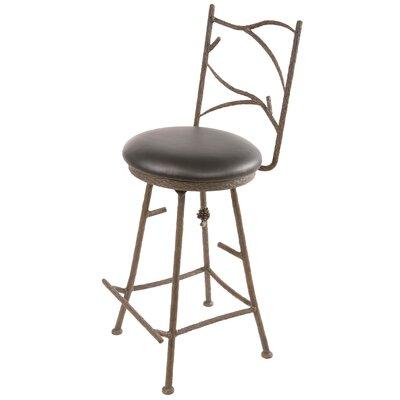 "Stone County Ironworks Pine 30"" Swivel Bar Stool with Cushion"
