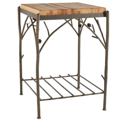 Pine Prep Table with Butcher Block Top by Stone County Ironworks
