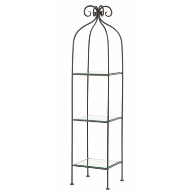 Scroll 3-Tier Single Width Standing Tile Shelf 62'' Etagere by Stone County Ironworks