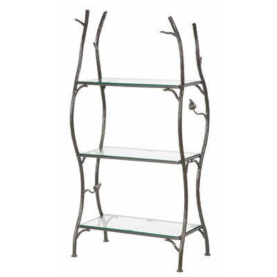 Sassafras 3-Tier Double Width Standing Tile Shelf 55'' Etagere by Stone County Ironworks