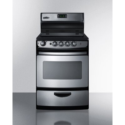 3 Cu. Ft. Electric Range in Stainless Steel Product Photo