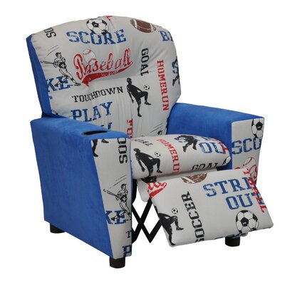 Mixy Sports Suede Kids' Recliner by KidzWorld