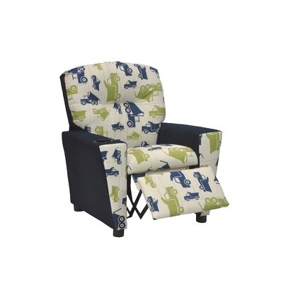 Mixy Toy Truck Felix Suede Kid's Recliner by KidzWorld